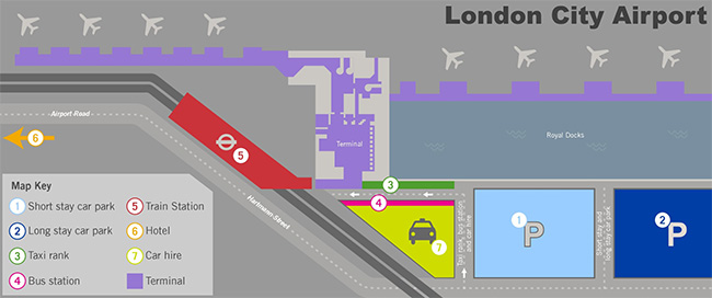 city airport terminal layout
